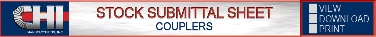Couplers Stock Submittal Sheet