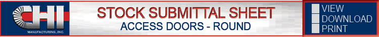 Access Doors Stock Submittal Sheet