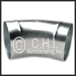 CHI 45degree Galvanized Elbow